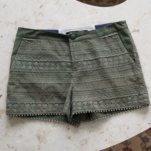 Anthropologie Olive Crocheted Shorts